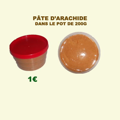 vente P�te d'arachide nature conditionn�e dans de pots