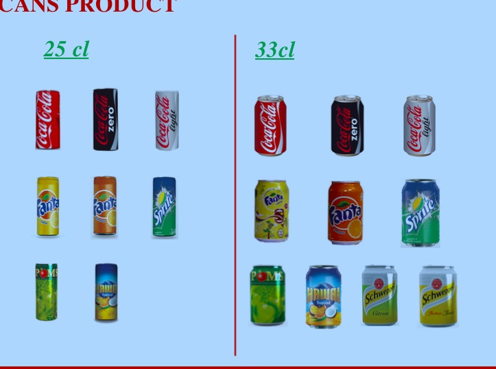 vente COCA COLA PRODUCTS FOR AFRICA
