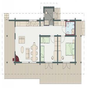 Maison bureau ossature bois 100 m2 euro - Maison neuve en bois ...