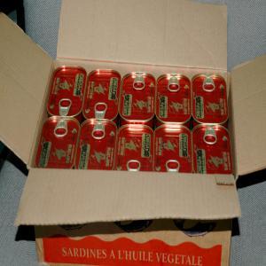 conserves sardines origine maroc aucune carton un carton contient 50 boites. Black Bedroom Furniture Sets. Home Design Ideas
